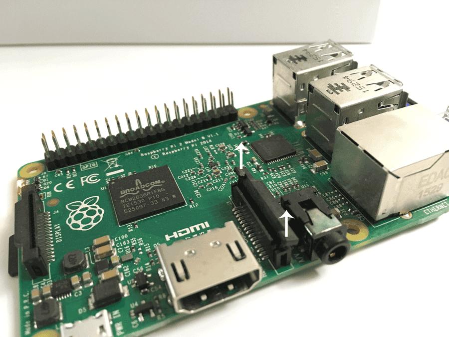 Raspberry Pi camera port tabs