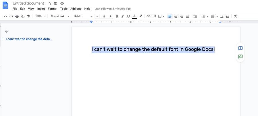highlight text Google Docs