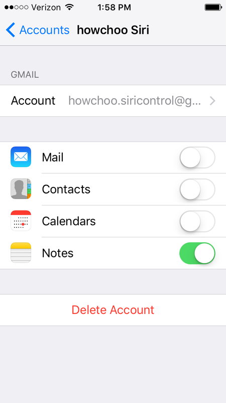 Enable notes and ensure it is the default account for creating notes with Siri