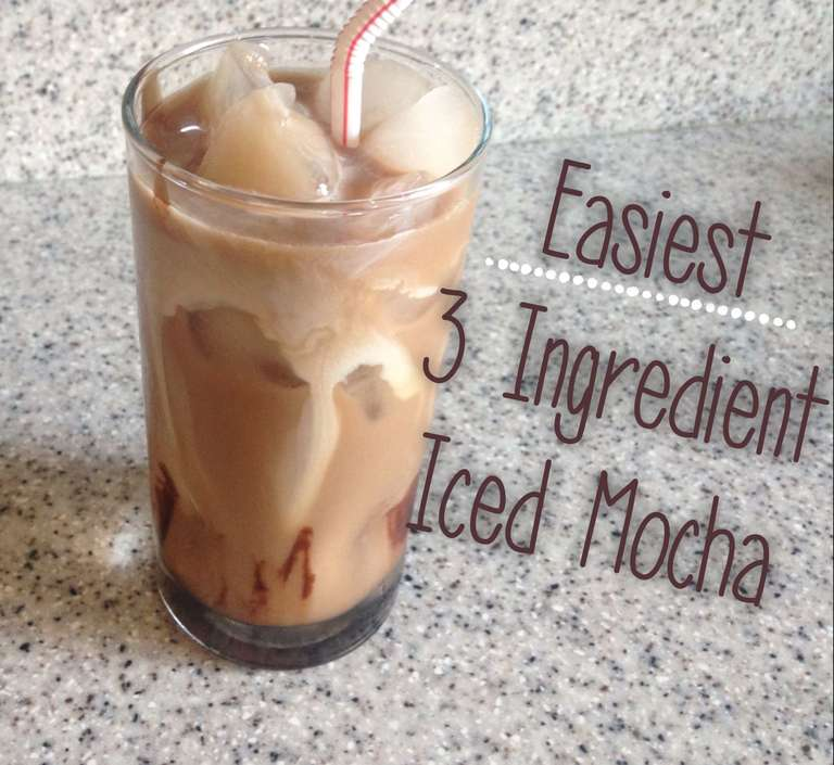 How to make the easiest 3 ingredient iced mocha