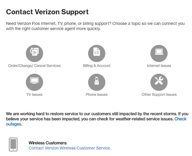 Verizon Support