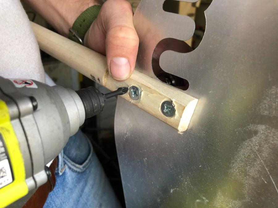 screwing through dowel