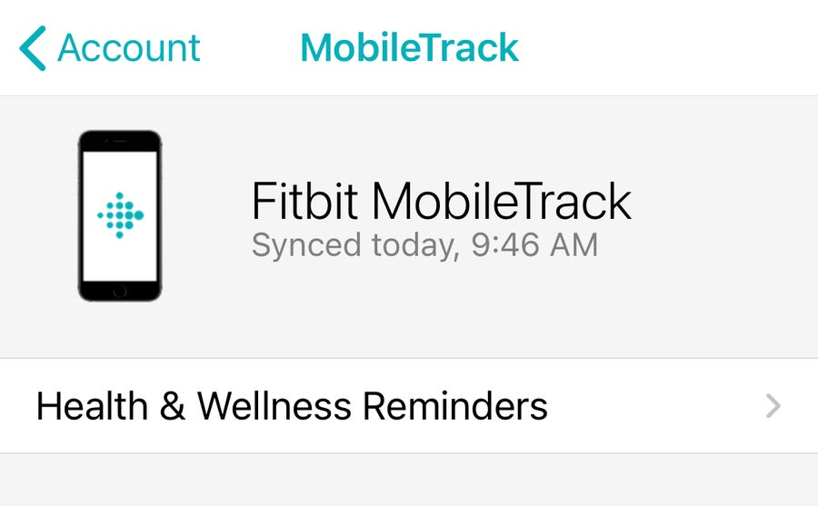 Fitbit MobileTrack
