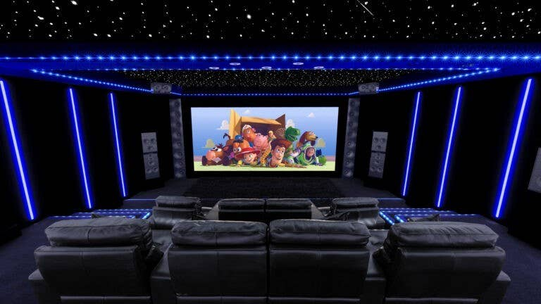 Starry cinema with 15-foot screen