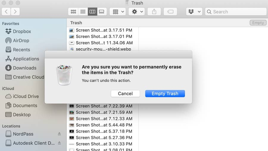 Empty Trash Warning Mac