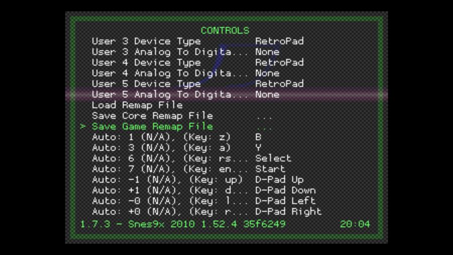 Configure your RetroPie controller for a single game