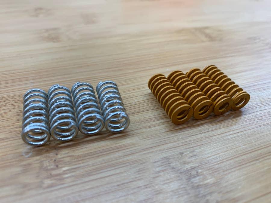 Upgraded Ender 3 bed springs