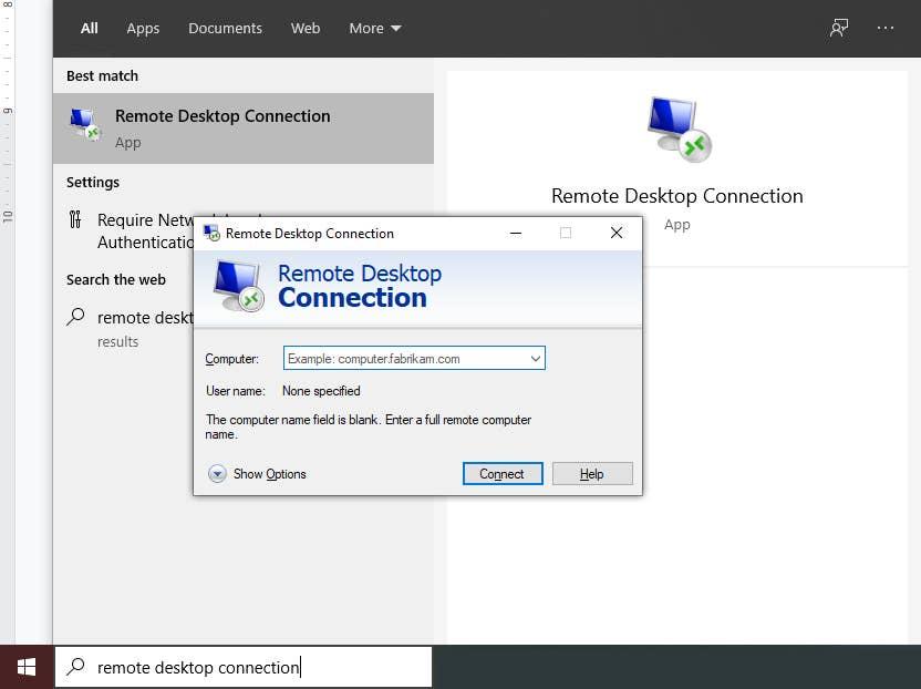Remote Desktop Connection