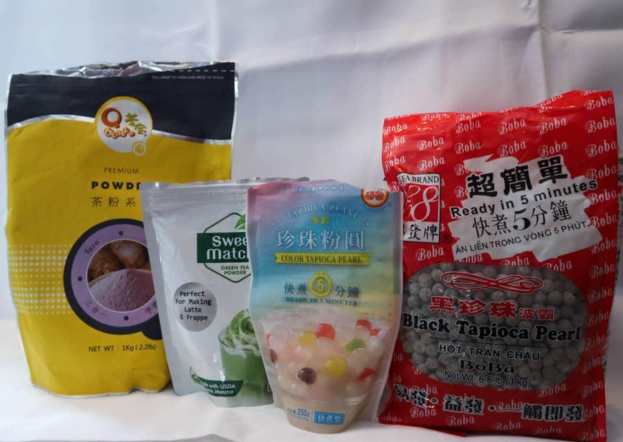 matcha green tea taro bubble tea recipe