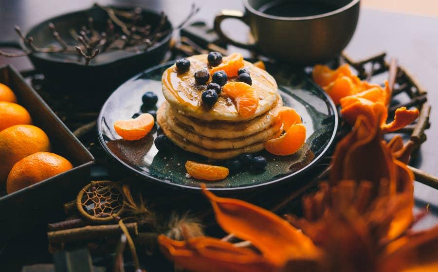 Pancakes and oranges