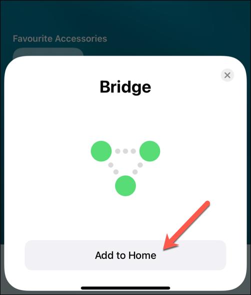 Add Bridge to Home