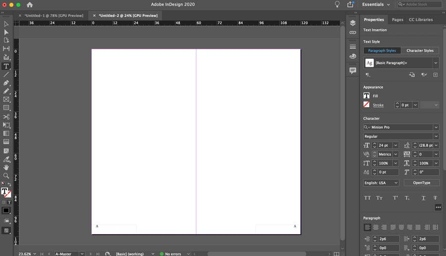 Page Numbers in InDesign