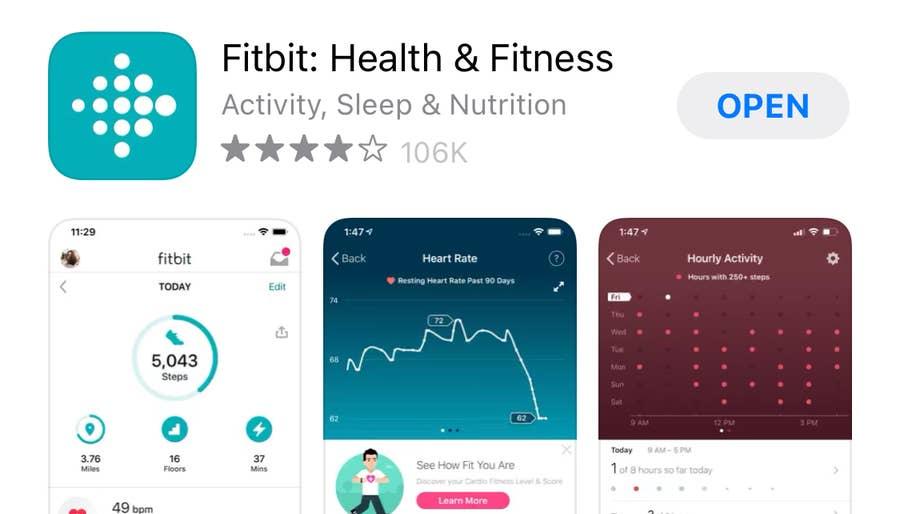 Fitbit App in Apple Store