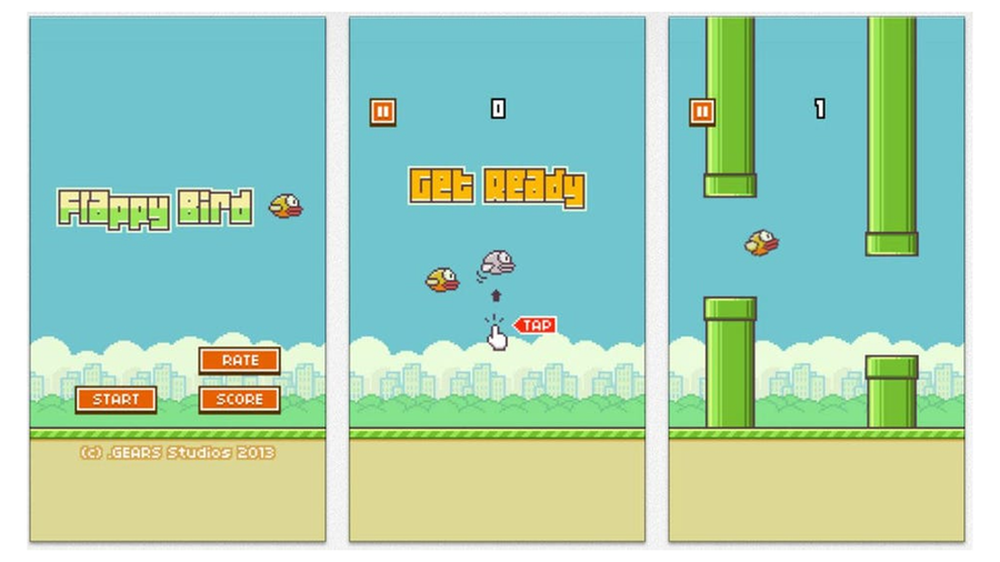 flappy bird dong nguyen mobile game