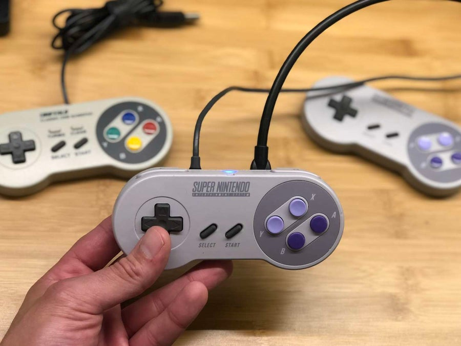 Holding the Super Gamepad Zero