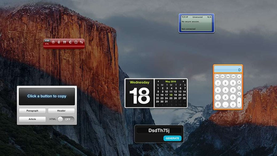 How to enable the dashboard in OS X El Capitan