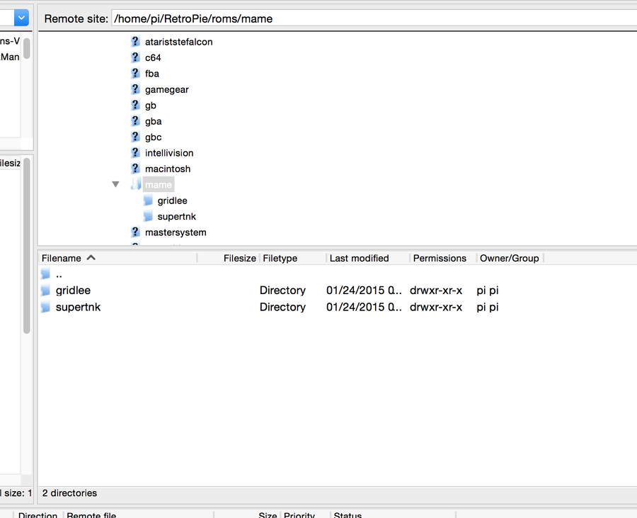 Installing ROMs via SFTP