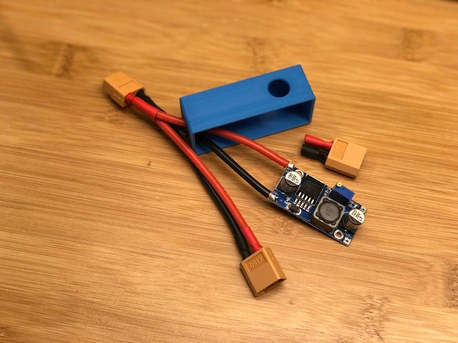 Complete 3D printer XT-60 cable buck converter circuit