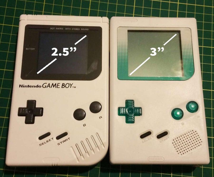 Increase Game Boy screen size