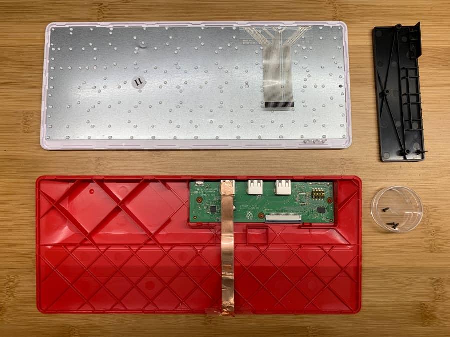 Raspberry Pi keyboard teardown