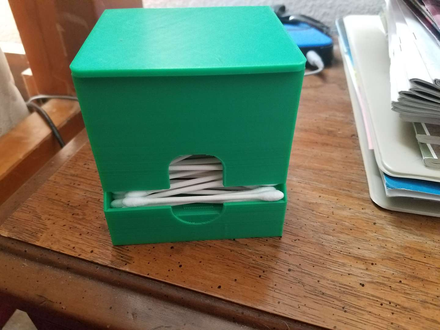 3D printed cotton swab dispenser