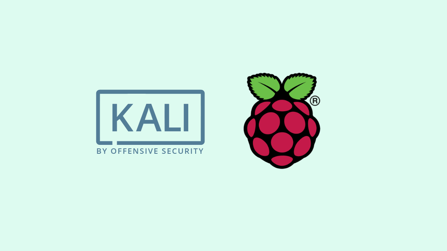 The Kali Linux and Raspberry Pi logos, side by side