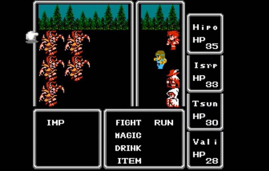 Original Final Fantasy Gameplay
