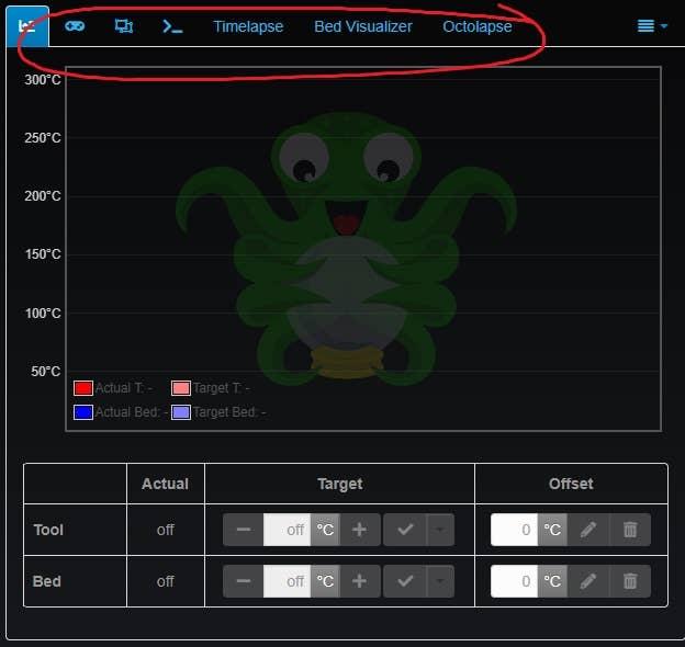 Tab Order OctoPrint plugin screenshot
