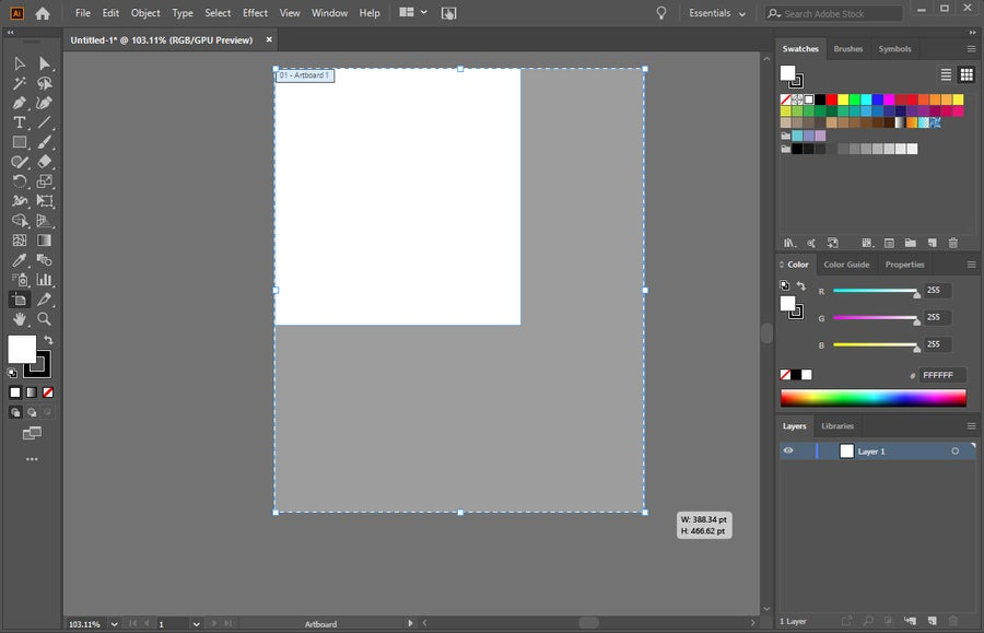 Adobe Illustrator Artboard Resize