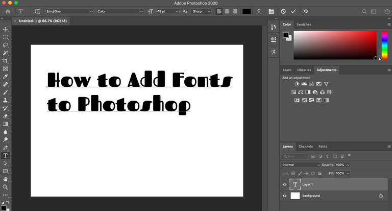 How to Add Fonts to Photoshop in Photoshop