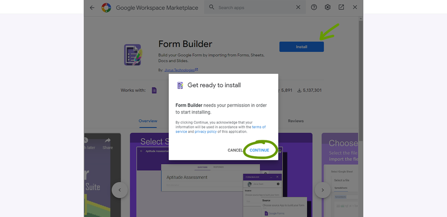install addon google forms