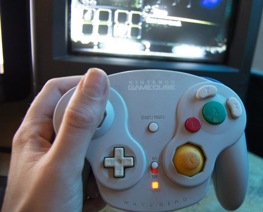 GameCube controller on Wii