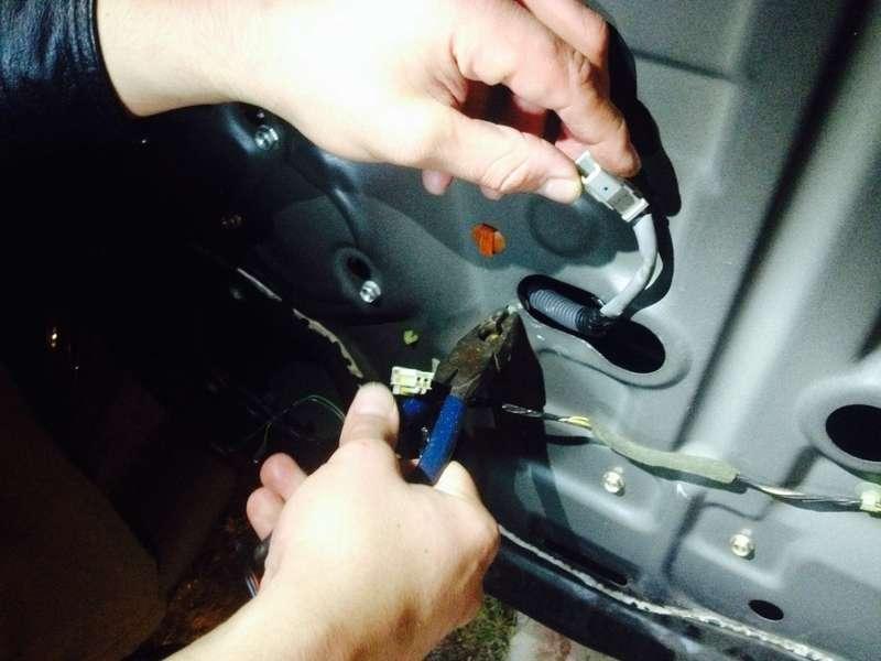 Remove the plastic wire clips