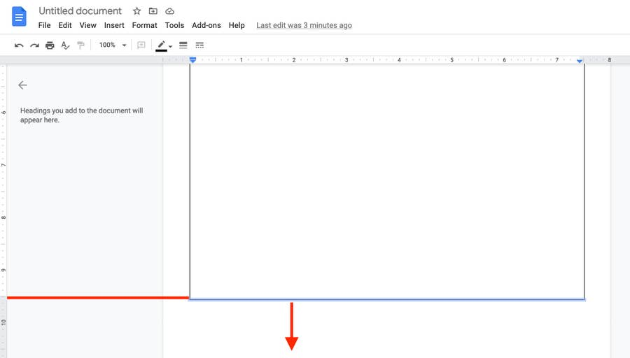Fix bottom border line Google Docs