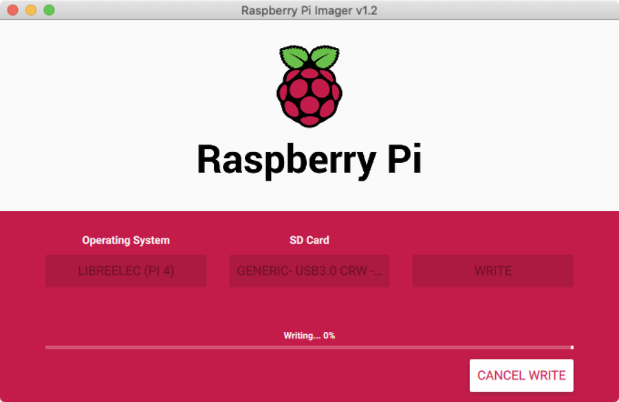 Writing with Raspberry Pi Imager