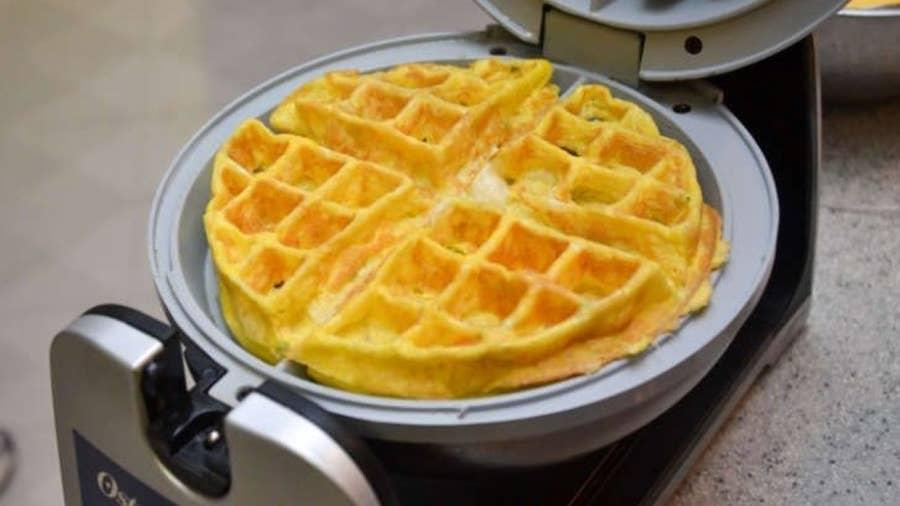 Make Waffle Omelets