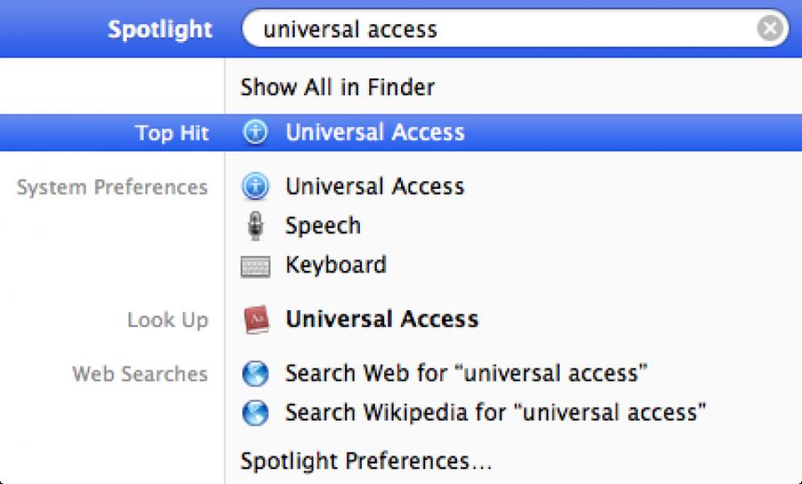 Open Universal Access
