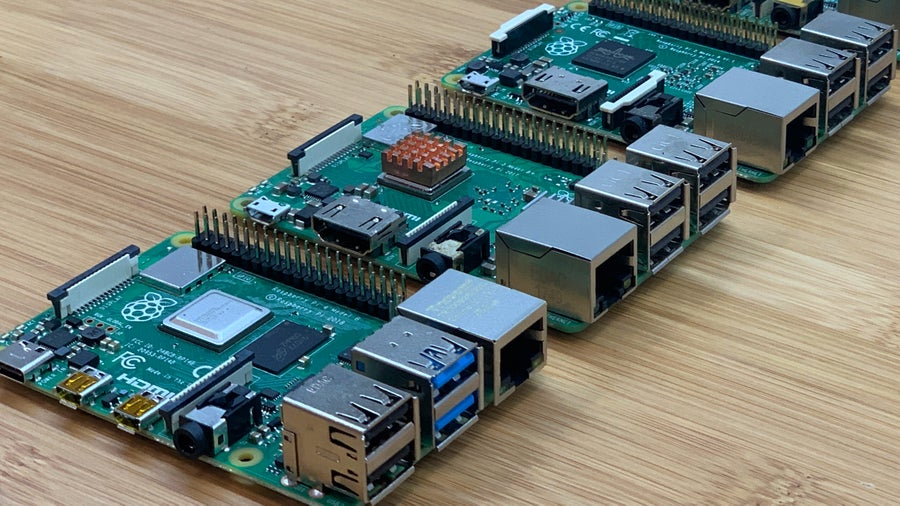 Multiple Raspberry Pis on a table