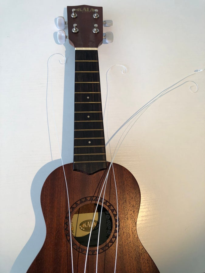 Unwound ukulele strings