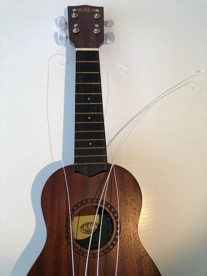 Unwound ukulele strings