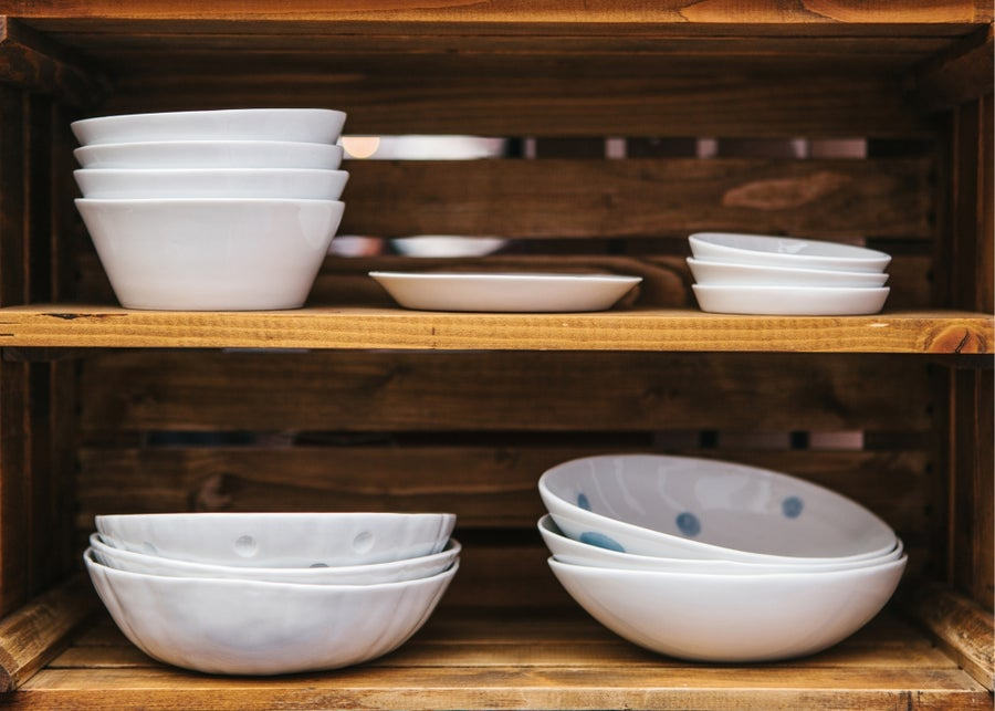 Plates and bowls.