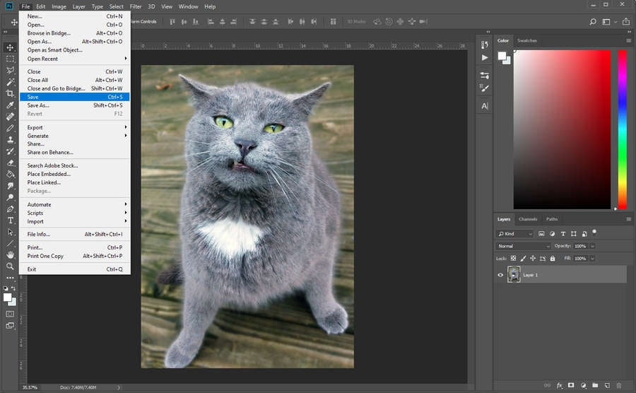 Save Photoshop File