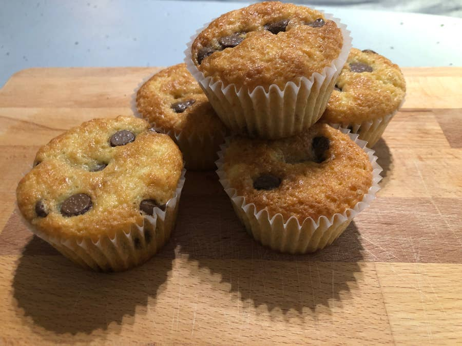 Baked muffins.