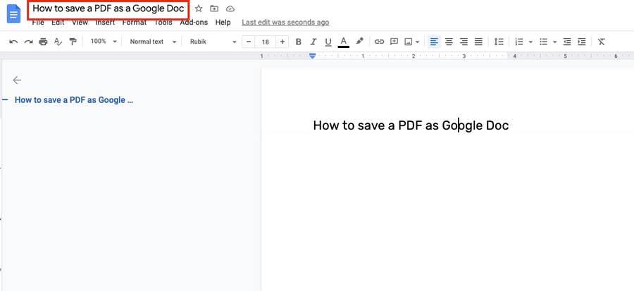 file name in google docs