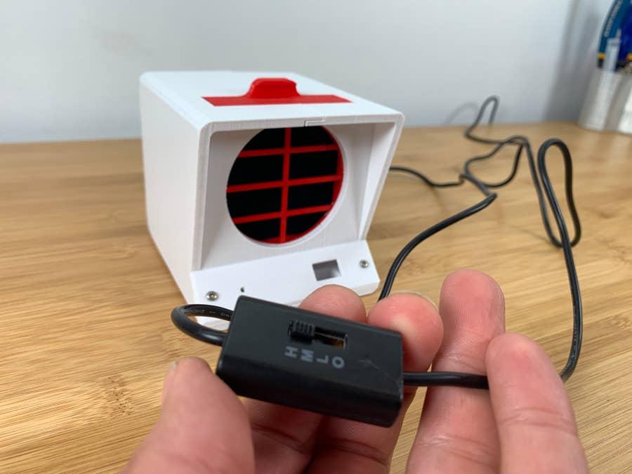 DIY solder fume extractor switch