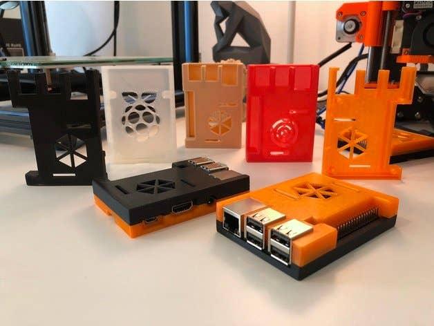 3D Printed Raspberry Pi case with GPIO pin slot