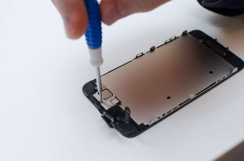 Remove the front facing camera assembly