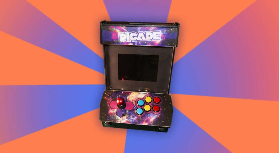 Picade on decorative background