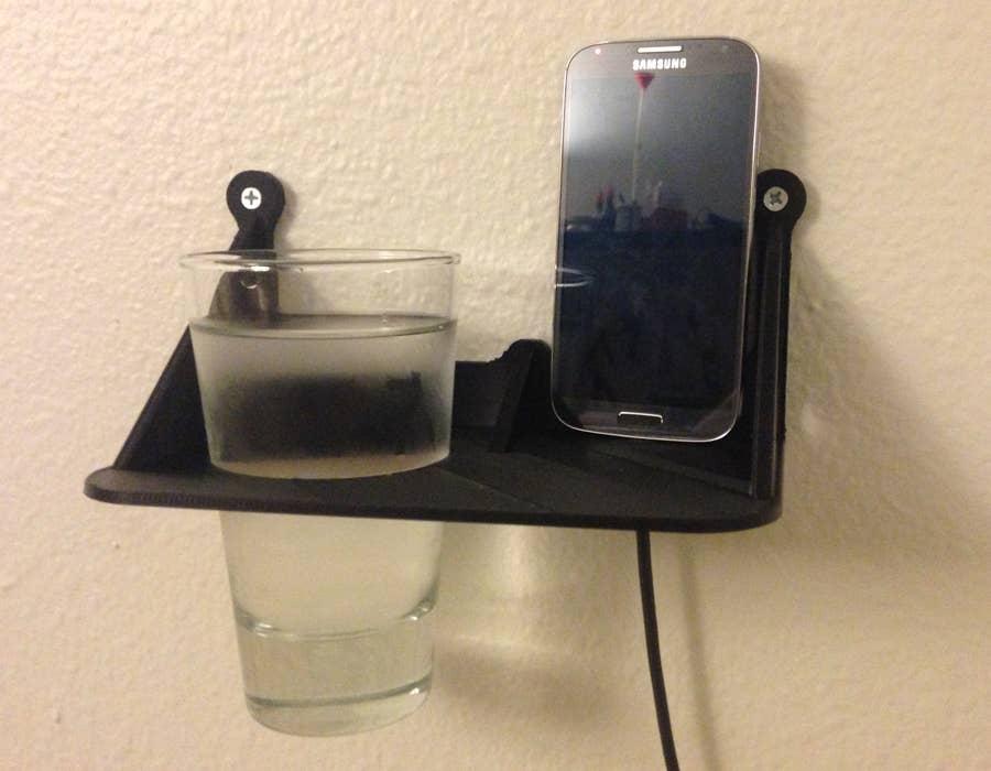 3D printed wall mounted shelf nightstand