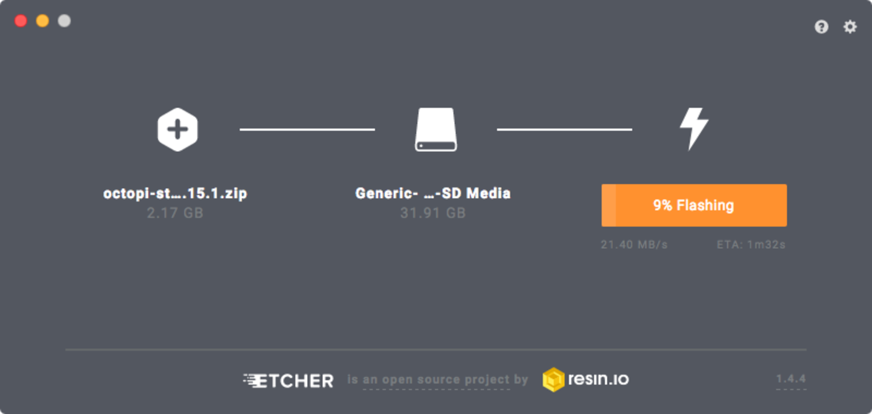 Flashing OctoPrint using Etcher